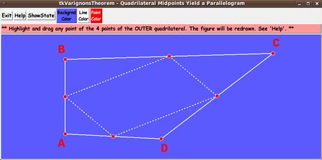 FE 'tkGooies' - 'MATHed' group - 'tkVarignonsTheorem' (midpoints of